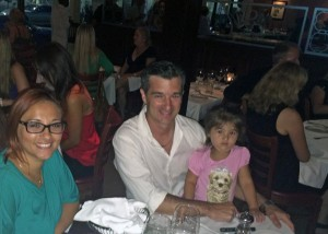 Dafna Knowles and family at fundraising dinner
