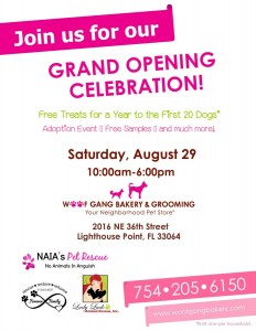 Woof Gang Bakery & Grooming Grand Opening Celebration