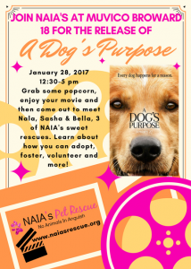 A Dog's Purpose Movie Event!