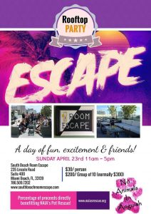 South Beach Escape Room Fundraising Event