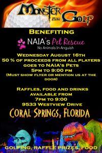 monster mini golf fundraiser rescue event