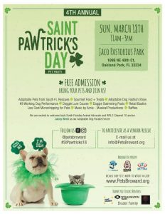 Saint Pawtrick's Day Pet Party